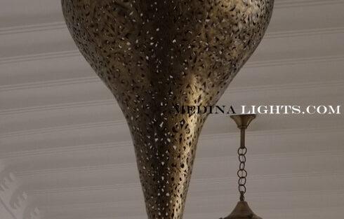 Brass Pendant - Moroccan Lighting, Moroccan Lanterns, Moroccan Lamps, Moroccan Chandeliers